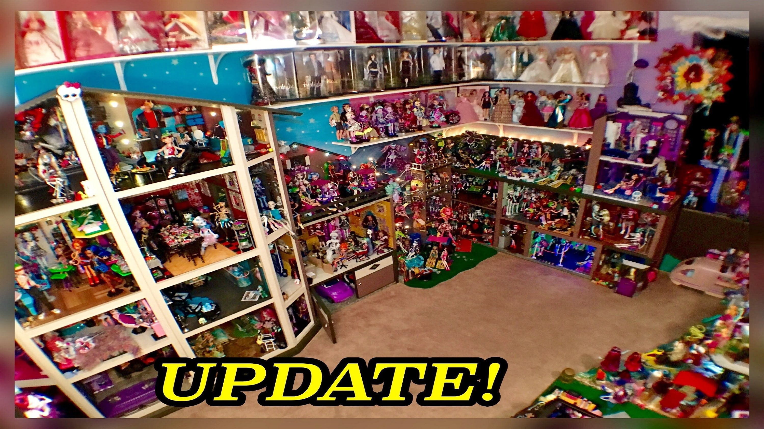 Monster High Doll House Tour 50room 54 Bed 350mh Dolls Collection