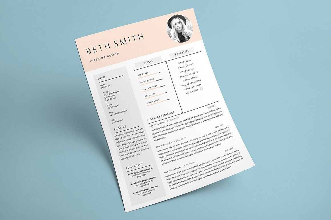 Minimalist Resume Template (Graphic) by Rustype - Minimalist resume template, Minimalist resume, Resume template, Resume, Templates, Print templates - Click here and download the Minimalist Resume Template graphic · Window, Mac, Linux · Last updated 2018 · Commercial licence included ✓