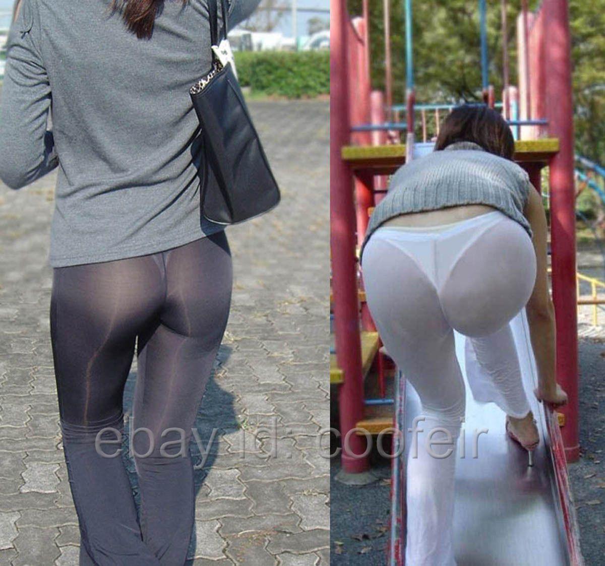 80d0c86c946e2b Women'S Flare Sheer Pants Leg Semi See-Through Long Leggings Silky  Bell-Bottoms