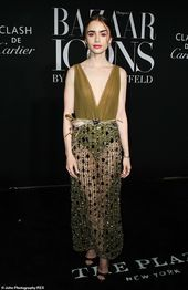 Wow: Lily Collins looked incredible as she arrived at the Harper's Bazaar IC... #lilycollins