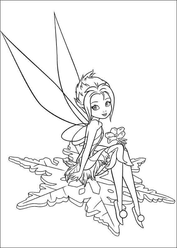 Disney Fairies Coloring Pages Tinker Bell Throughout Tinkerbell ... | 794x567