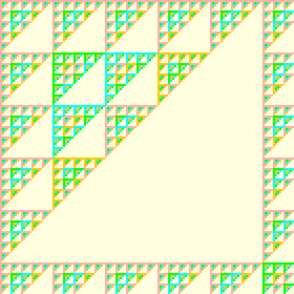 draw your own fractal pattern on graph paper maths games