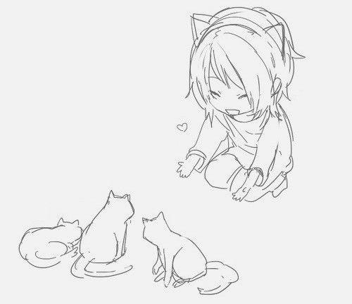 Pin de Niña Gato en otros mundos con gatos | Pinterest | Gato, Manga ...