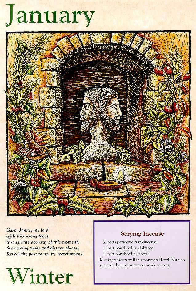 Winter January Involved The God Janus Who Looked Backwards And Forwards This Is The God Behind New Year S Celebrations Book Of Shadows Wiccan Witch