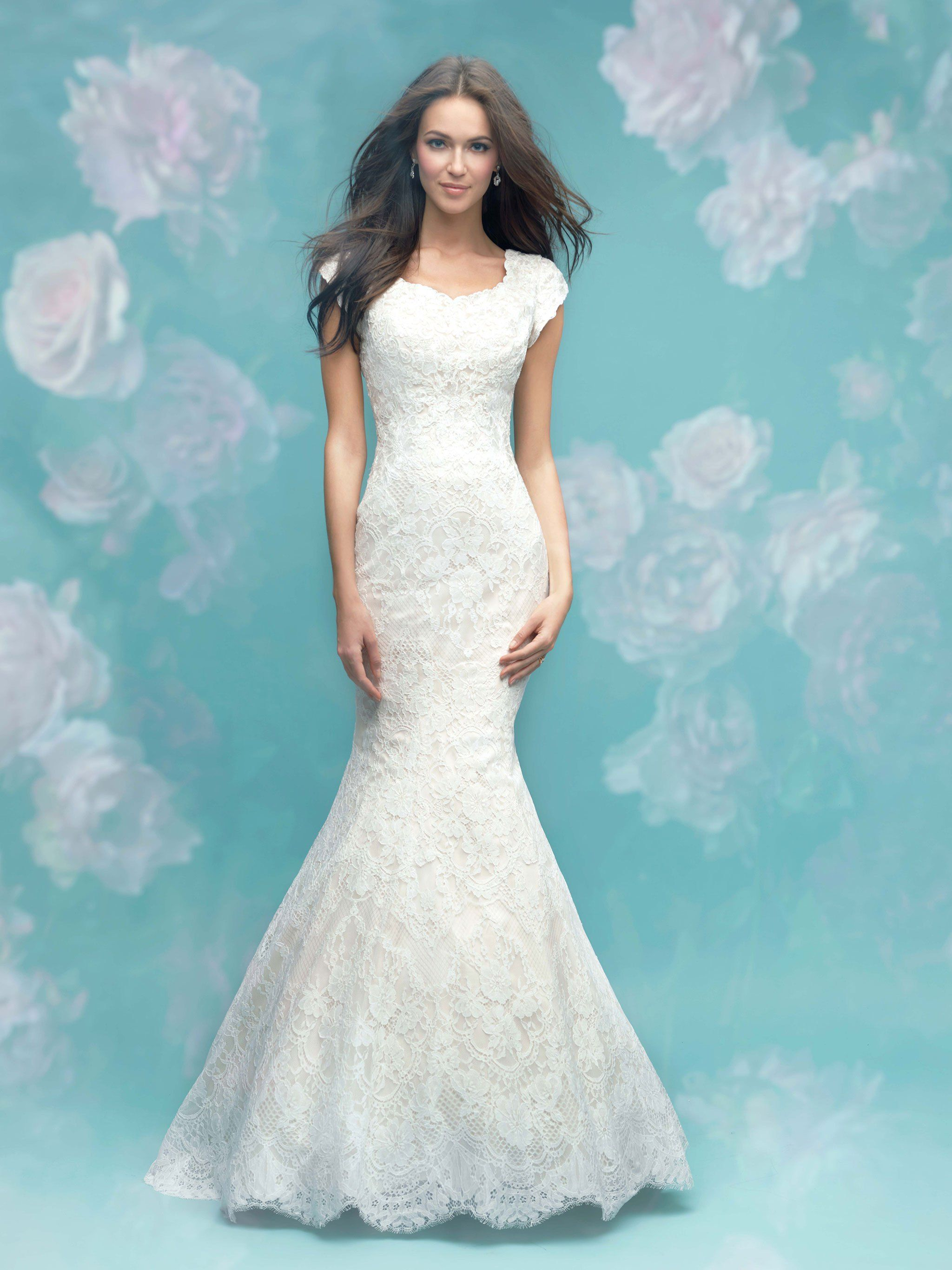 Our collection of modest wedding dresses with short sleeves is sure ...