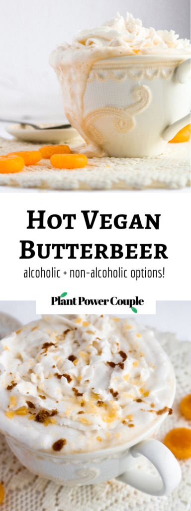 Vegan Butterbeer Served Hot And Easy To Make With Or Without Whiskey Recipe Vegan Butterbeer Vegan Drinks Recipes Recipes