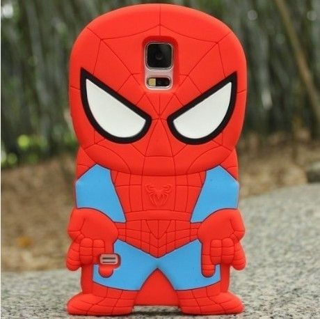 newest a2058 0ed5c 3d samsung galaxy s5 cases, 3d Spider-man Silicon Case Samsung ...