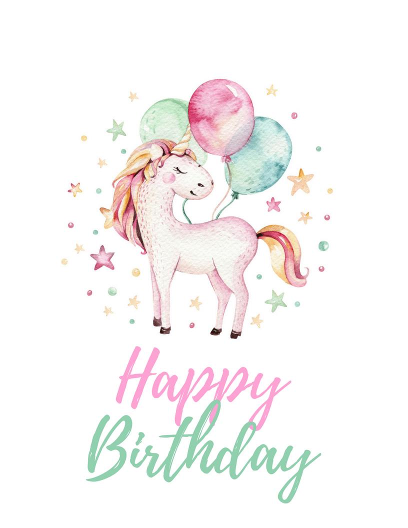 Unicorn Party Free Printables Unicorn Birthday Cards Unicorn Party Birthday Invitations Kids