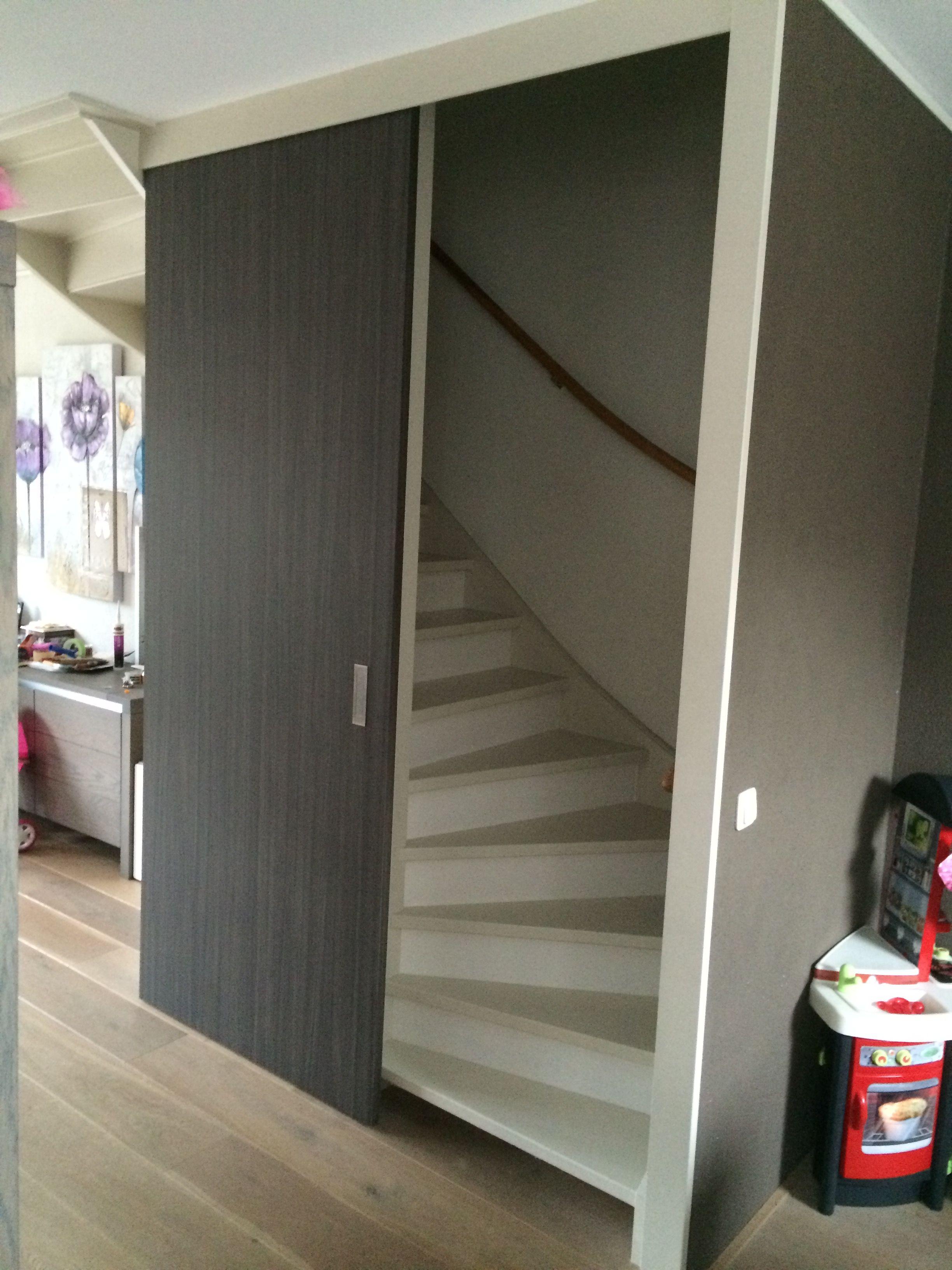 Schuifdeur voor trap schuifdeur trap in 2019 for Zoldertrap op maat