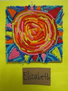 our art sanctuary: Huichol Sun Yarn Paintings