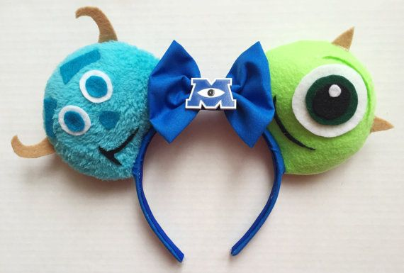 This listing is for one (1) pair of Monsters Inc inspired mouse ears! These ears are Made to Order; please see my shipping rates & policies