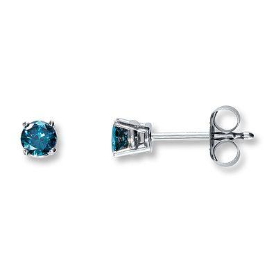969cdbdf9 Kay - Blue Diamond Earrings 1/4 carat tw Round-Cut 10K White Gold ...