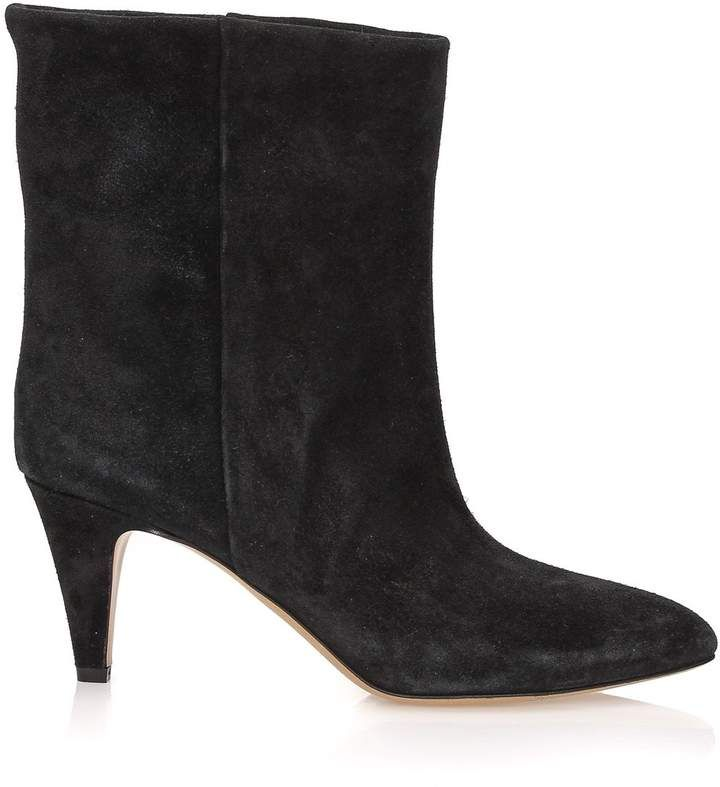 2bd6d0d332 Etoile Isabel Marant Dailan Boots Cowhide Leather, Calf Leather, Black  Ankle Boots, Black