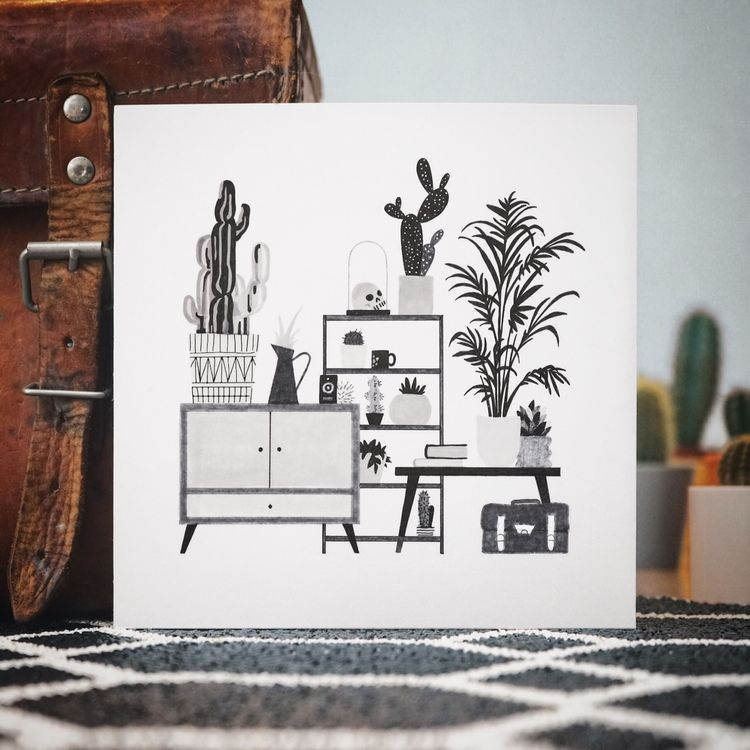 Tafereel 5 Illustration Drawing Marker Grey Pen Interior Design