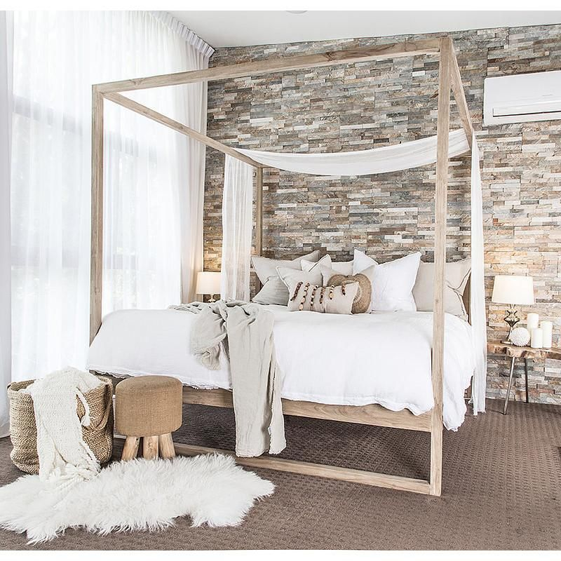 Bed Queen Or King Strand 4 Poster In French Oak By Uniqwa ό In 2019 Modern