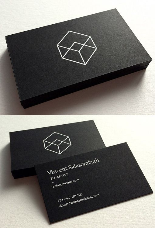 Clean And Crisp Black White Minimalist Business Card For A Graphic Designer