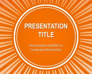 Orange Sunburst Powerpoint Template Is A Free Orange