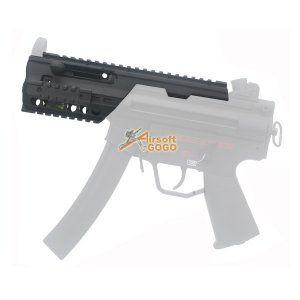 JG CNC Aluminum Full Metal MP5K / PDW Rail System for AEG