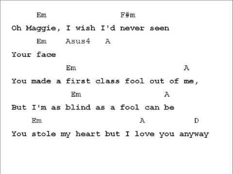 Rod Stewart Maggie May Chord Chart Youtube Musical Pinterest