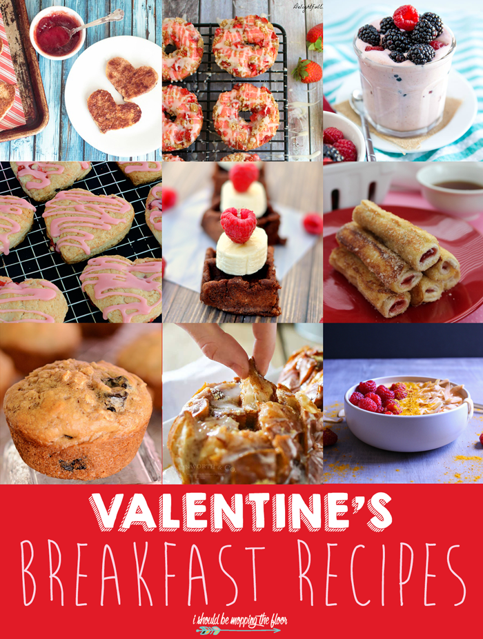 Valentine's Breakfast Recipes   From doughnuts to scones ...there is something delicious to make your sweetheart smile on Valentine's morning.