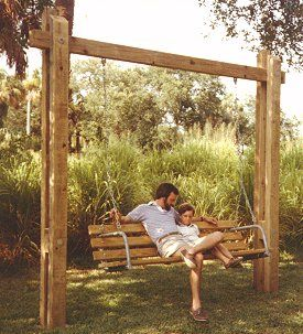 Best 25+ Porch swing frame ideas on Pinterest   Woodworking plans porch swing, Porch swings ...