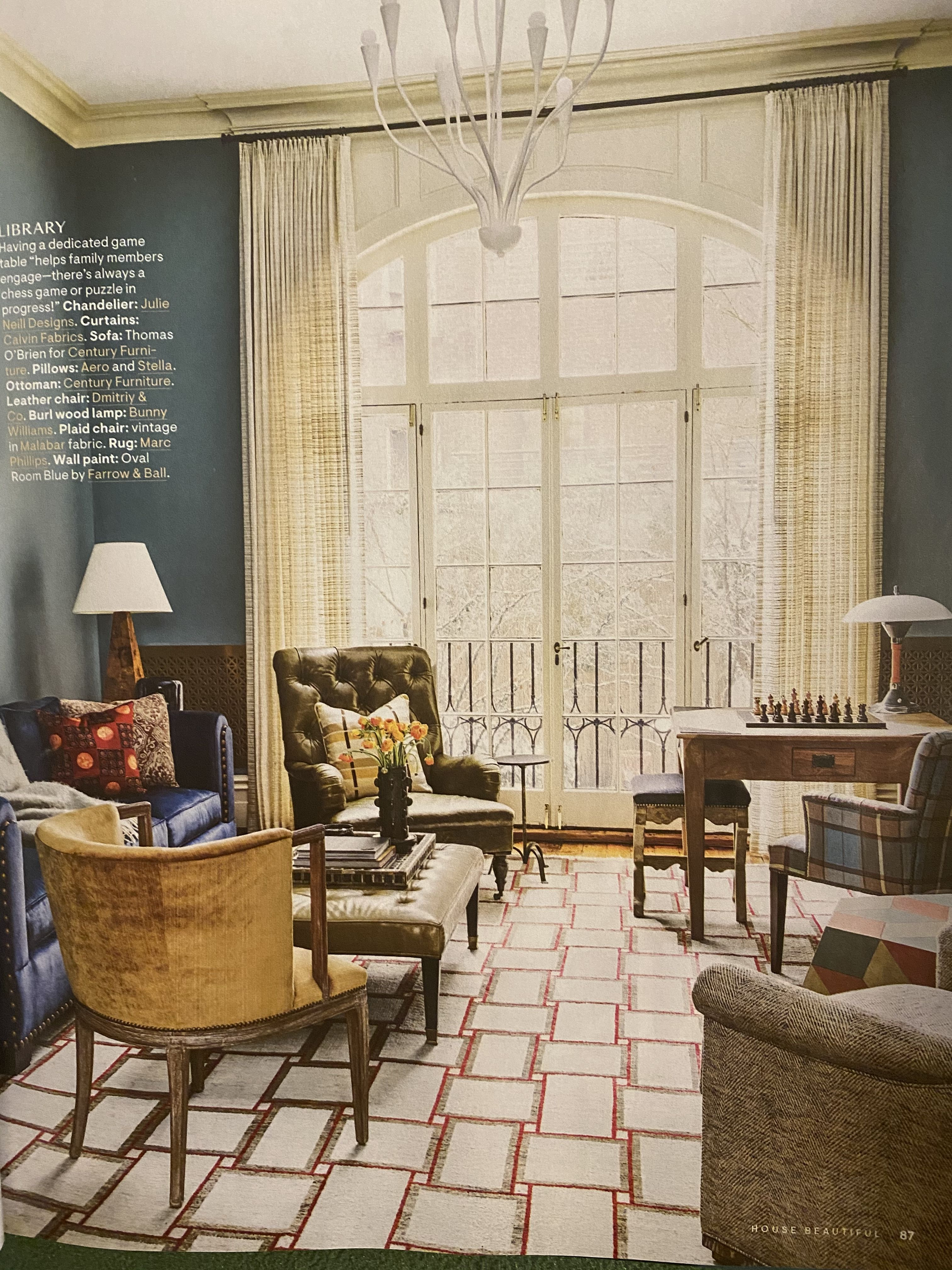 April/May 13 house beautiful in 13  Oval room blue, Home