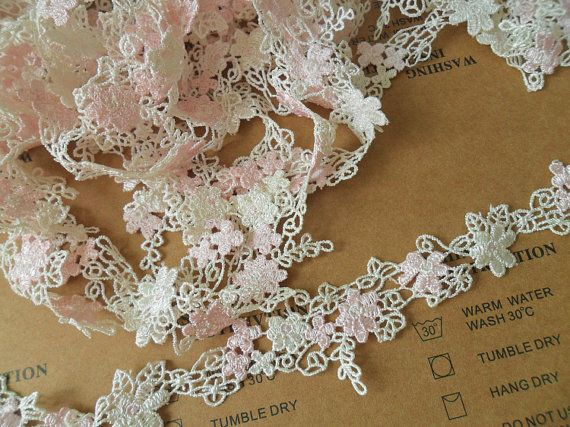 2 Yards Width 3.5cm wedding lace trimflowers by POPOLace on Etsy