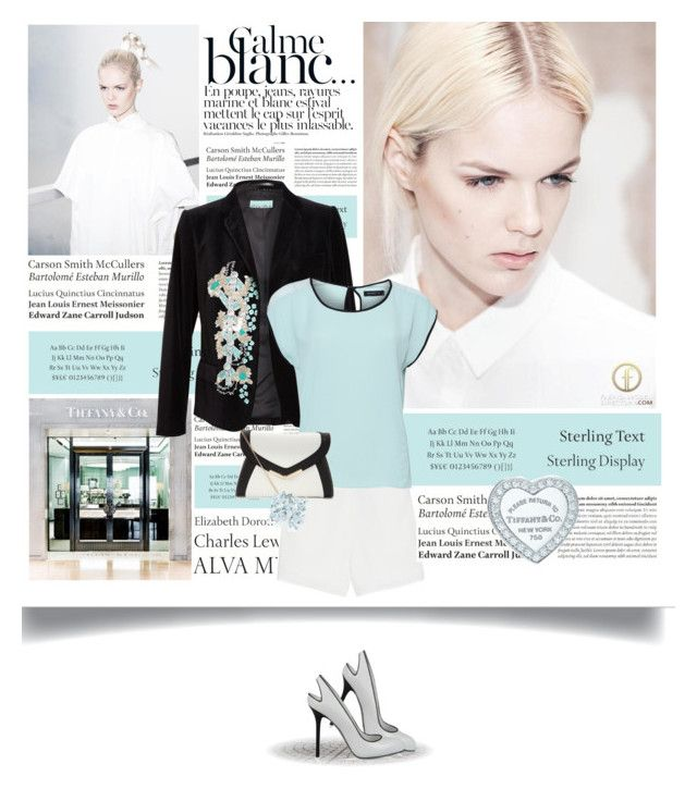"""""""Tiffany & Co."""" by celida-loves-pink ❤ liked on Polyvore featuring Tiffany & Co., Bensimon, Dries Van Noten, T By Alexander Wang, Modström, Sergio Rossi, Paloma Picasso and Tiffany"""