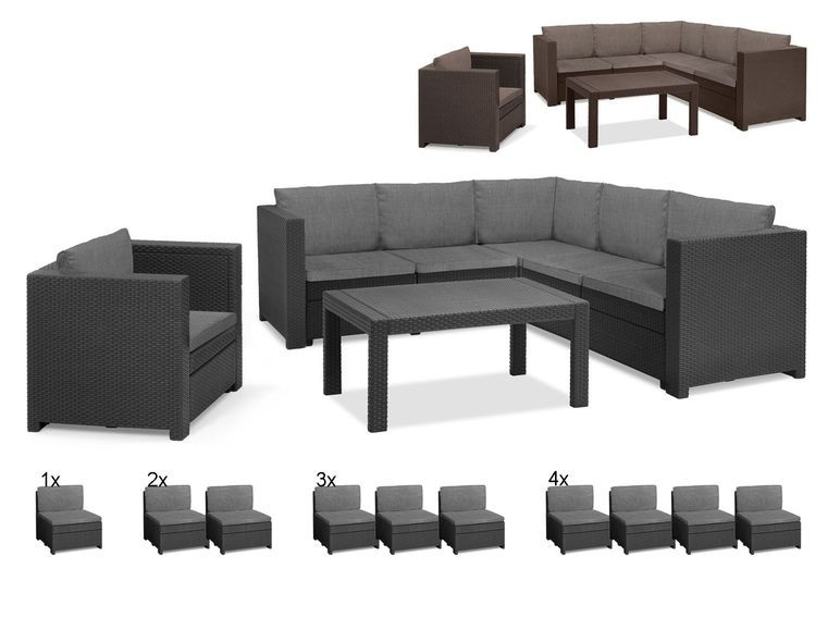 Keter Gartenmobel Lounge Set Provence Mit Tisch Sessel