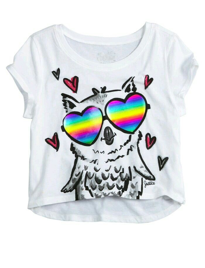 a1540a829 Justice Store, Justice Clothing, Owl Graphic, Cute Graphic Tees, Graphic  Tee Shirts