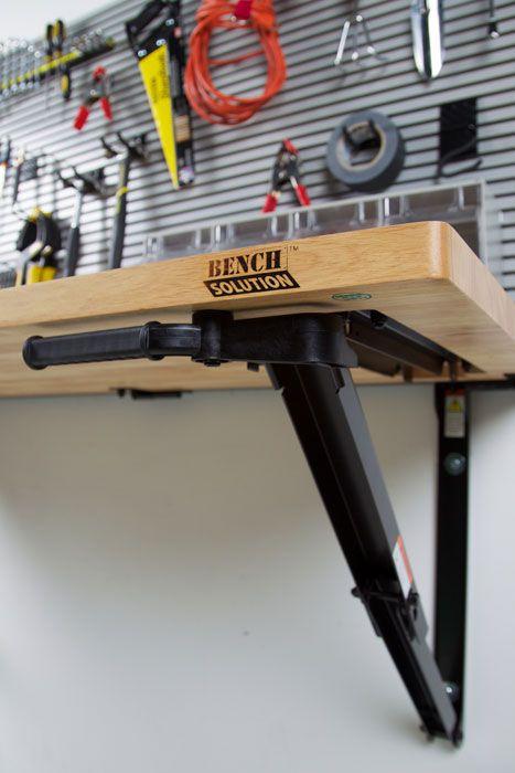 Folding Garage Workbench | Space Saving Ideas | Bench Solution