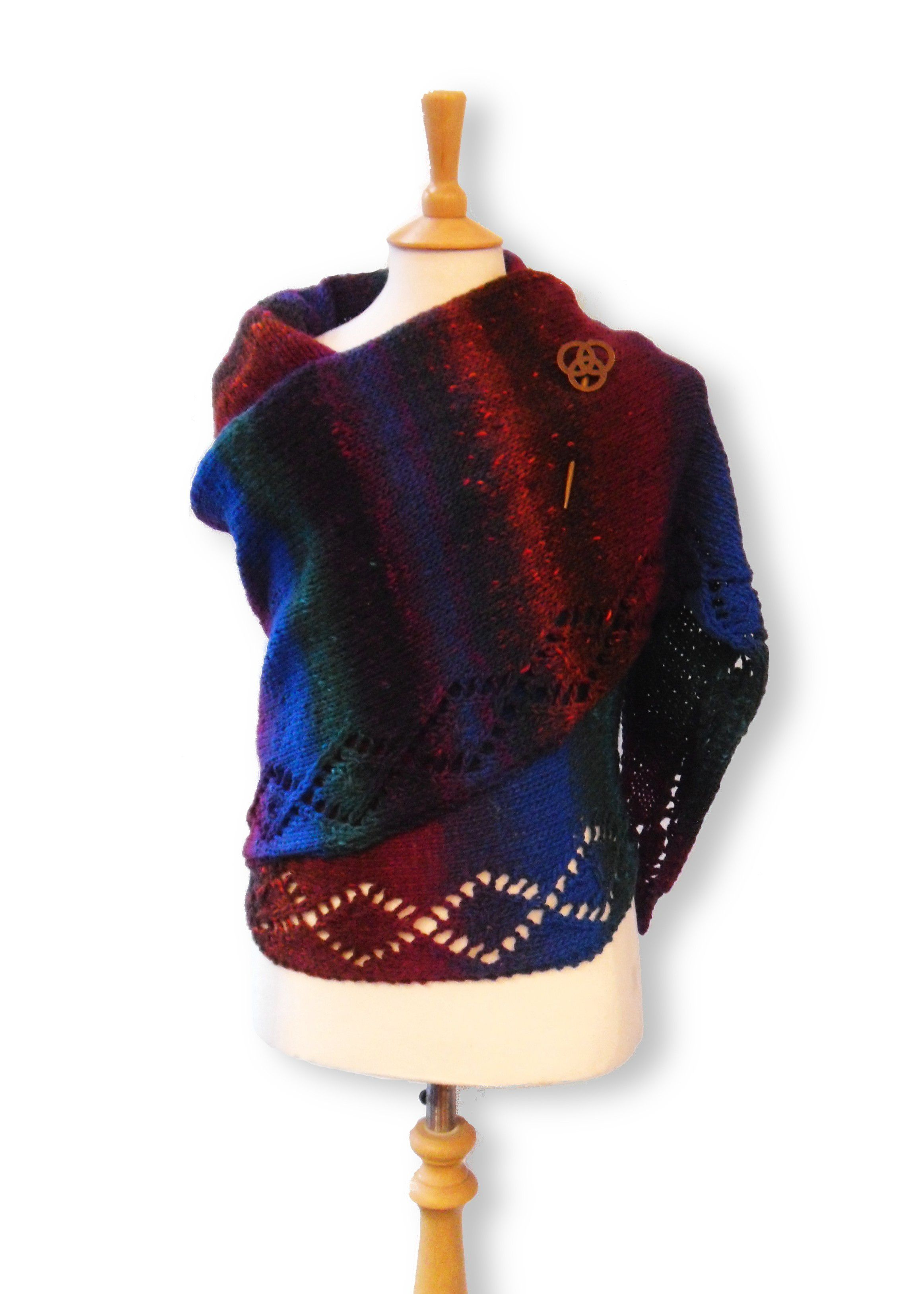 Free knitting pattern - Simple Shawl in Rowan Colourscape Chunky ...