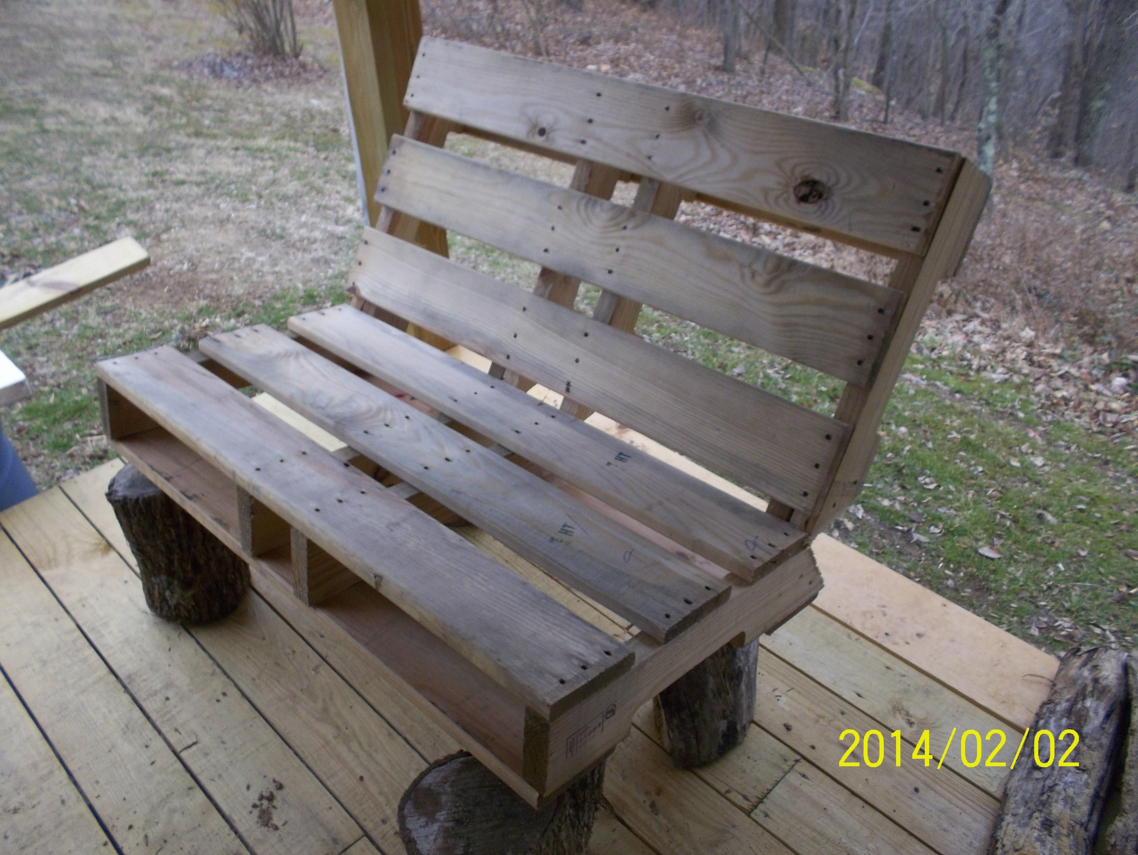 Stan S First Attempt To Build A Fire Pit Bench From A Pallet