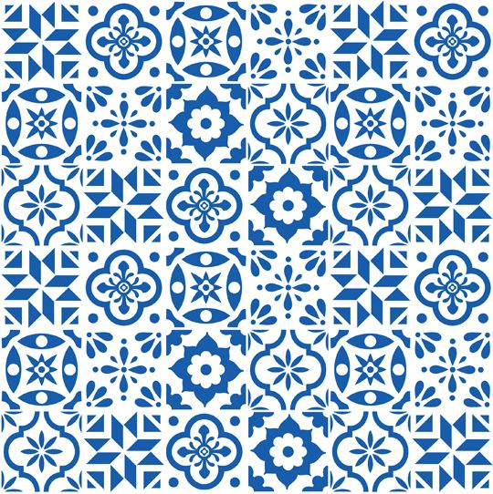 Spanish Tile Pattern Fabric From Spoonflower By Elizajanecurtis Awesome Spanish Patterns