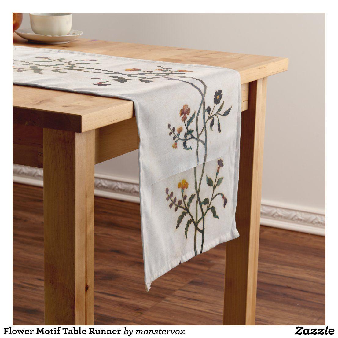 Flower Motif Table Runner In 2020 Christmas Table Runner Long Table Runner Teal Bird