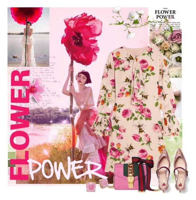 """***FLOWER POWER***"" by mariapia65 ❤ liked on Polyvore featuring Gucci, Poesia, Kate Spade, Flowers and flowerpower"