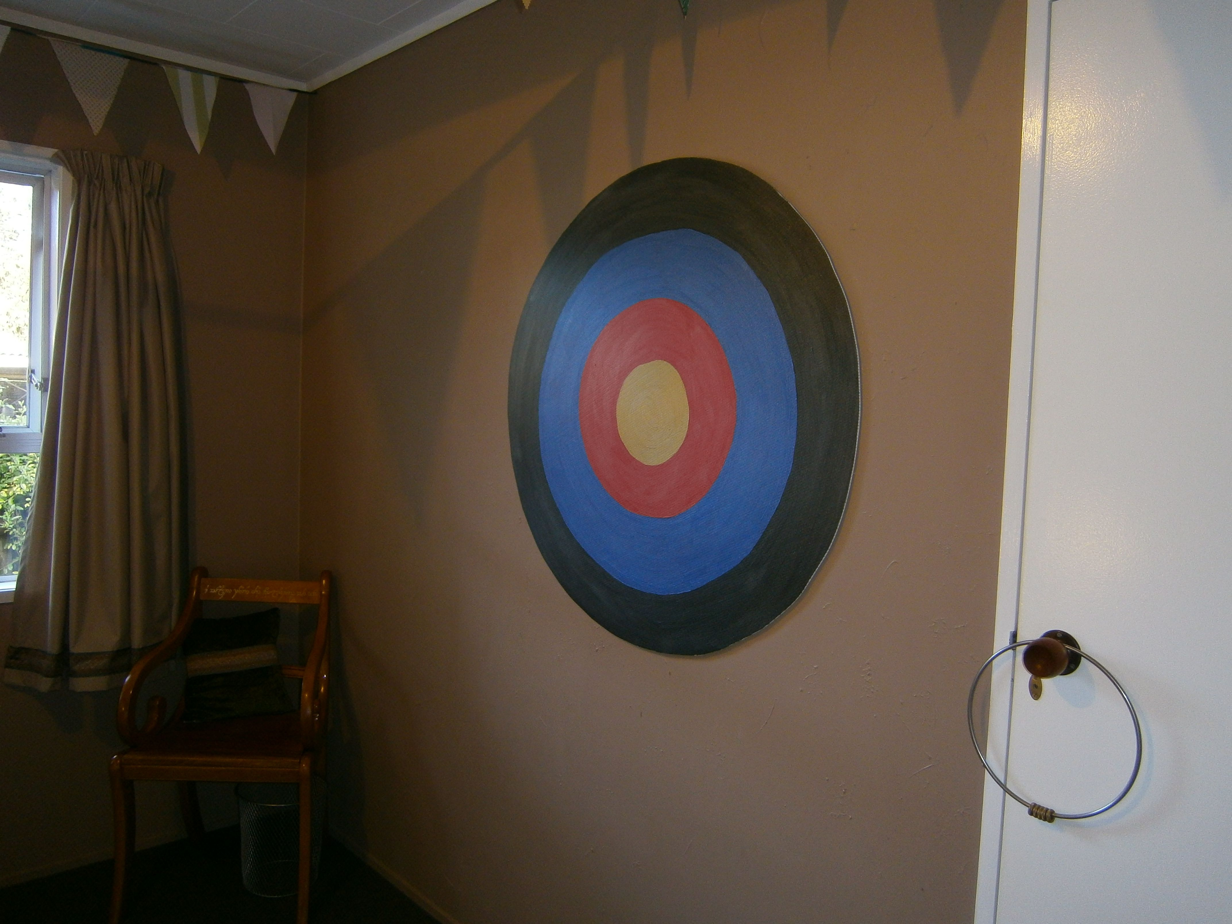 Corflute bullseye for Nerf Gun tar practice