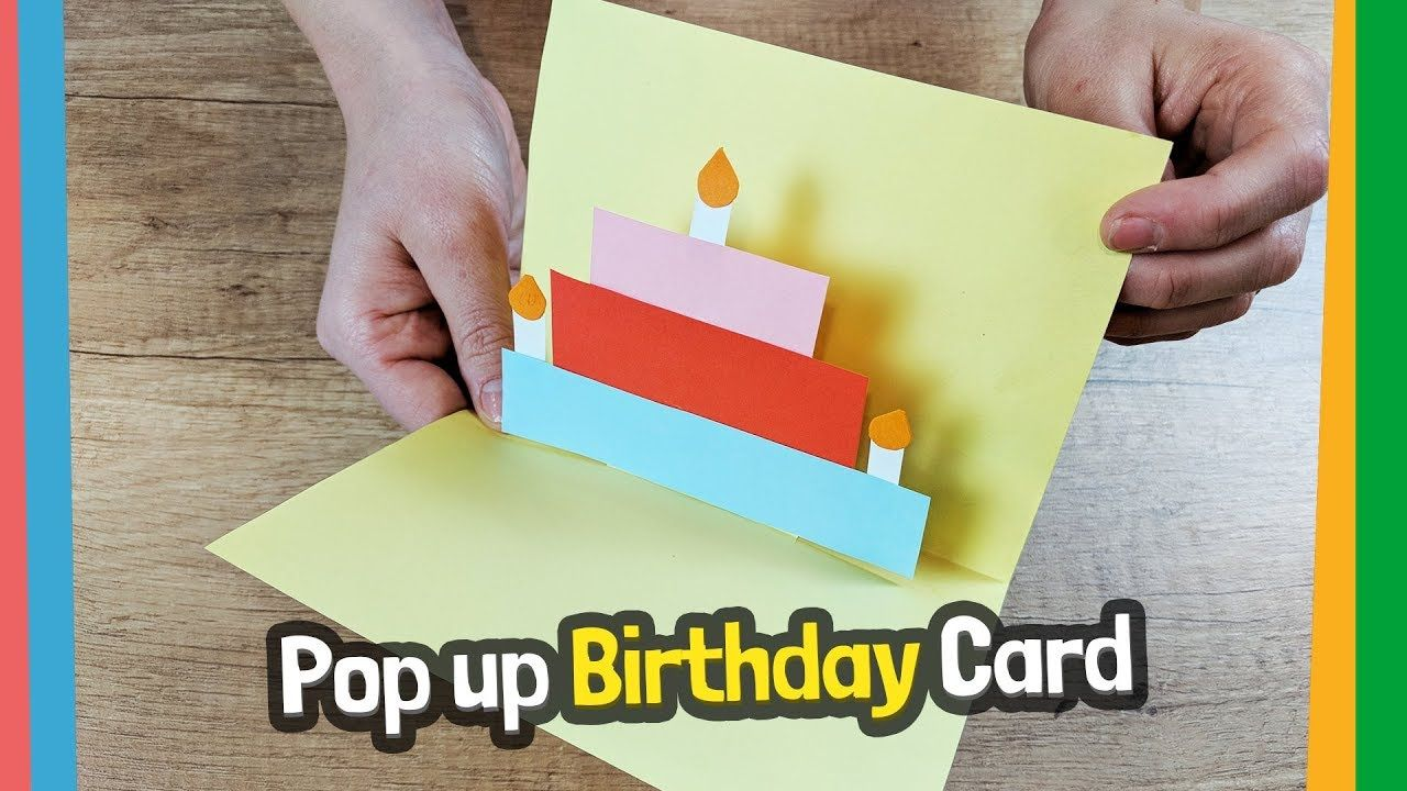 Pop Up Birthday Card Craft For Kids Easy Diy Youtube Card Making Birthday Birthday Cards Diy Kids Crafts Birthday Cards