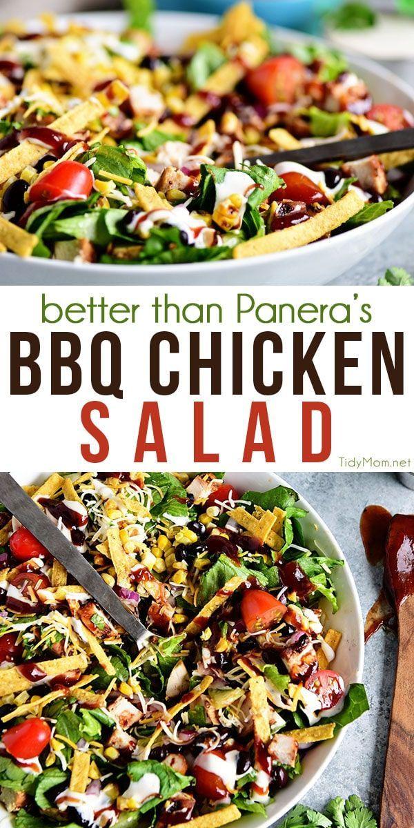 BBQ Hühnchensalat – ein Panera Copycat Rezept  – Things I want to cook – healthy