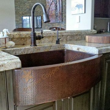 Premier Copper 33 Inch Kitchen Rounded Apron Single Basin Sink ...