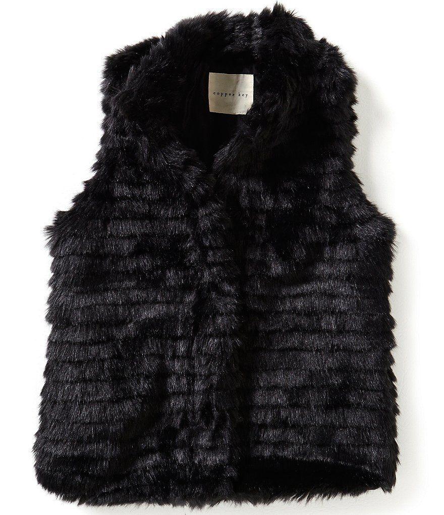 242466437 Copper Key Big Girls 7-16 Faux-Fur Vest