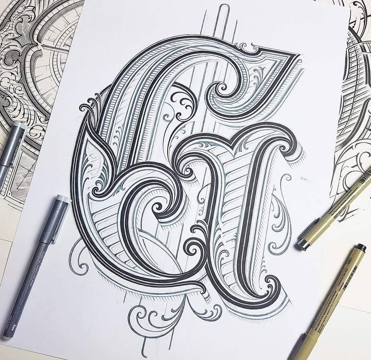 Pin by Eric Garner on Art Typography drawing, Tattoo