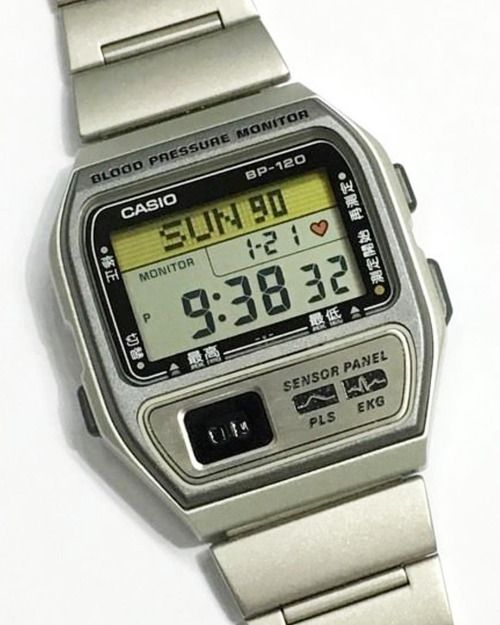 Casio BP-120 with Blood Pressure Monitor. ca 1993  casio ... 056df2547d