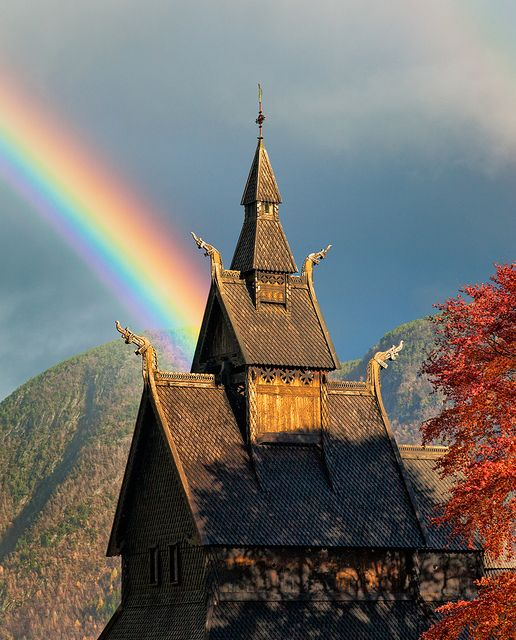 Hopperstad Stave Church in Vik, Norway----  Beam of Light by John & Tina Reid, via Flickr