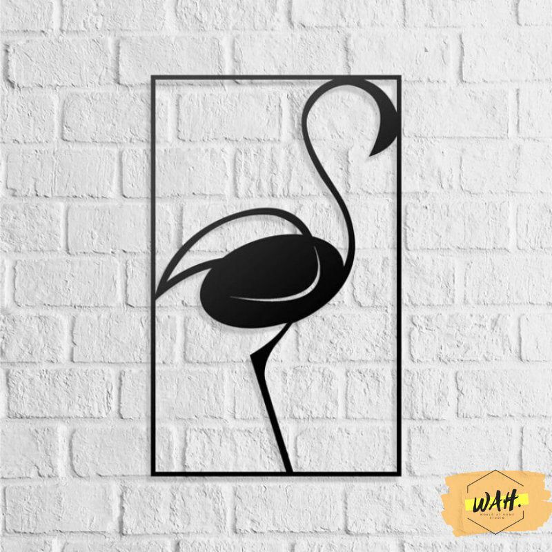 Excited To Share The Latest Addition To My Etsy Shop Flamingo Wood Metal Wall Art Geometric Wall Art Offi Dog Wall Art Flamingo Wall Art Metal Wall Sign