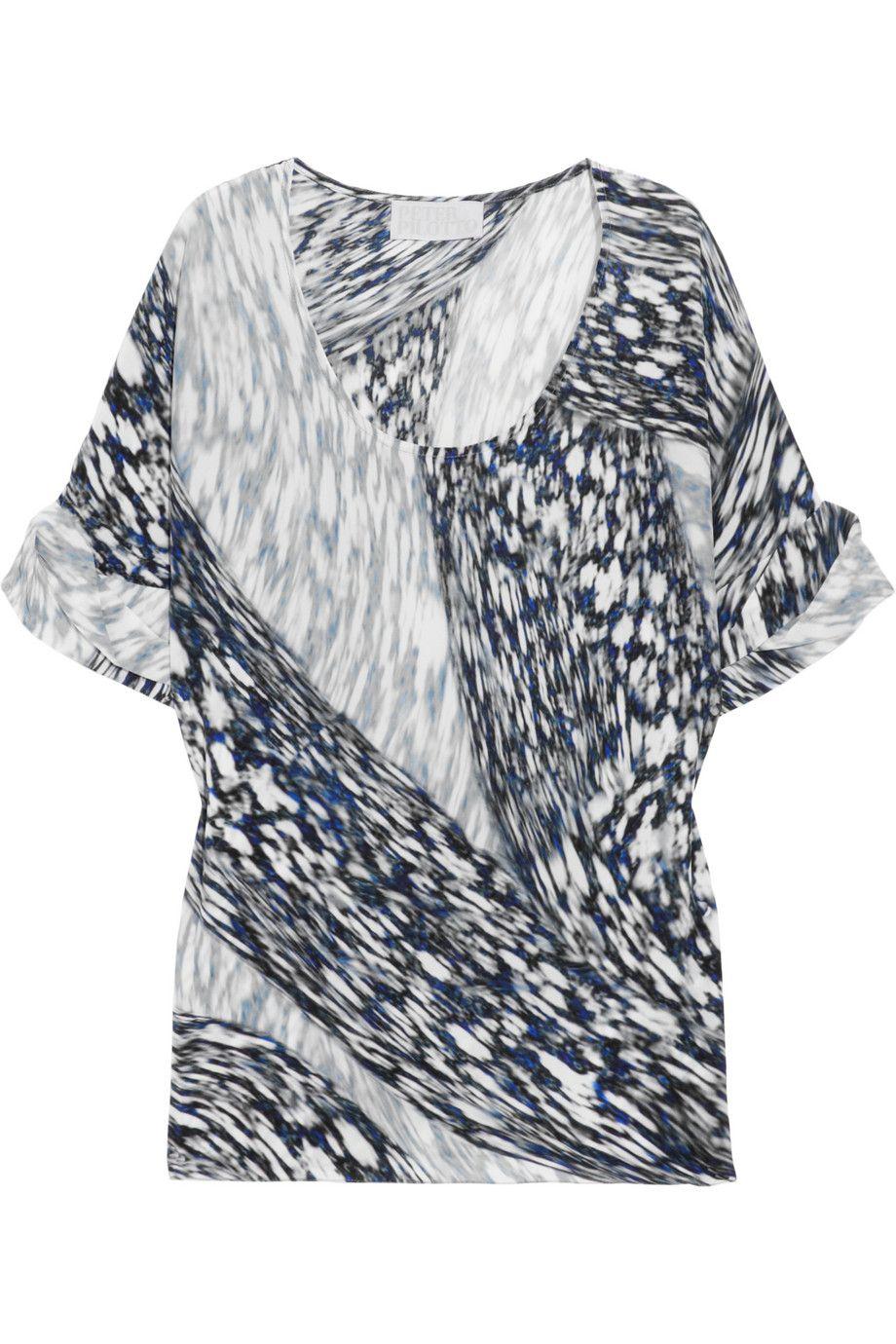 Peter Pilotto  Printed silk top  Original price 755 Now 302