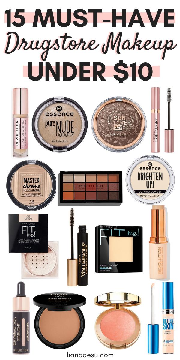15 Best Drugstore Makeup Must Haves Under $10 | makeup