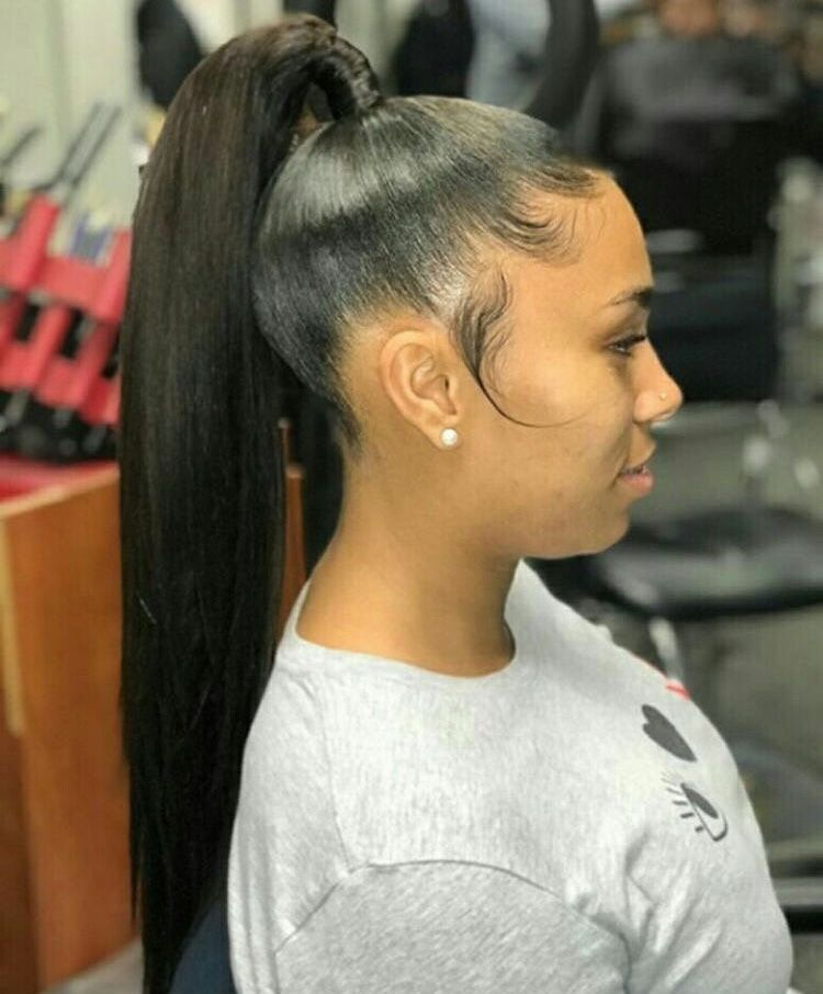 Weave Ponytail Hairstyles Image By Queen T On Hair Ideas High