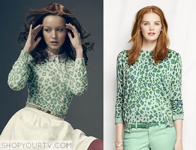 THE LIBRARIANS: SEASON 1 PROMO CASSANDRA'S GREEN LEOPARD CARDIGAN ...