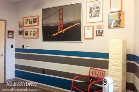 A Creative Office Space: Come to Life #graystripedwalls